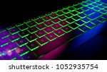gamer keyboard with colorful... | Shutterstock . vector #1052935754