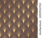 art deco pattern. seamless... | Shutterstock .eps vector #1052941910