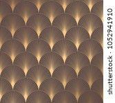 art deco pattern. seamless... | Shutterstock .eps vector #1052941910