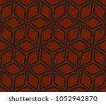 decorative seamless geometric... | Shutterstock .eps vector #1052942870