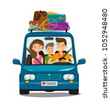 travel  journey concept. happy... | Shutterstock .eps vector #1052948480