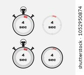 timer 4 seconds on gray... | Shutterstock .eps vector #1052950874