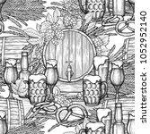 graphic barrels of beer... | Shutterstock .eps vector #1052952140