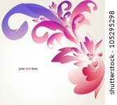 abstract floral vector... | Shutterstock .eps vector #105295298