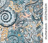 tracery seamless pattern.... | Shutterstock .eps vector #1052962634