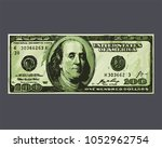 icon banknote the us dollar.... | Shutterstock .eps vector #1052962754