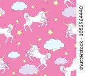 cute seamless pattern with... | Shutterstock .eps vector #1052964440