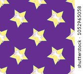 cute seamless pattern with... | Shutterstock .eps vector #1052965058