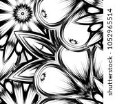 seamless floral background.... | Shutterstock .eps vector #1052965514