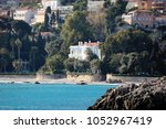 luxurious villa on the beach in ... | Shutterstock . vector #1052967419