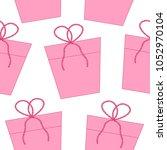 pink gifts seamless pattern... | Shutterstock .eps vector #1052970104