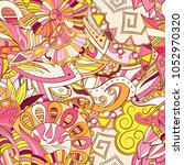 tracery seamless pattern.... | Shutterstock .eps vector #1052970320