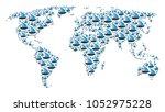 continent atlas mosaic designed ... | Shutterstock .eps vector #1052975228