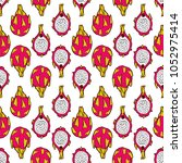 piraya vector seamless pattern | Shutterstock .eps vector #1052975414