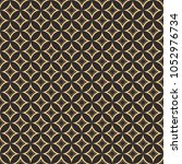 seamless black and gold... | Shutterstock .eps vector #1052976734