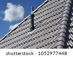 plastic fume hood on the roof... | Shutterstock . vector #1052977448