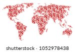 global geography map mosaic... | Shutterstock .eps vector #1052978438