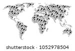 geographic atlas collage... | Shutterstock .eps vector #1052978504