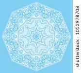 mandala isolated design element ... | Shutterstock .eps vector #1052978708