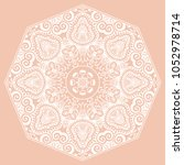 mandala isolated design element ... | Shutterstock .eps vector #1052978714
