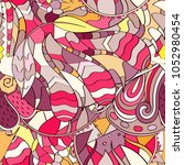 tracery seamless pattern.... | Shutterstock .eps vector #1052980454