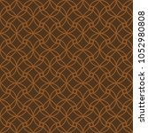 seamless chocolate brown... | Shutterstock .eps vector #1052980808