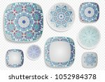 plate ornament  top view. home... | Shutterstock .eps vector #1052984378