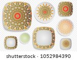 plate ornament  top view. home... | Shutterstock .eps vector #1052984390