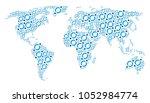 global geography atlas concept... | Shutterstock .eps vector #1052984774