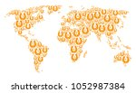 earth atlas composition done of ... | Shutterstock .eps vector #1052987384