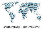 earth map composition... | Shutterstock .eps vector #1052987390