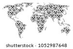 geographic atlas concept made... | Shutterstock .eps vector #1052987648