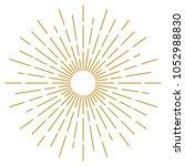 golden vintage sunburst design... | Shutterstock .eps vector #1052988830