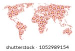 earth map composition composed... | Shutterstock .eps vector #1052989154