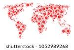 international atlas mosaic done ... | Shutterstock .eps vector #1052989268