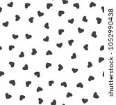 seamless pattern with heart.... | Shutterstock .eps vector #1052990438