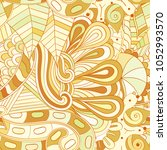 tracery seamless pattern.... | Shutterstock .eps vector #1052993570