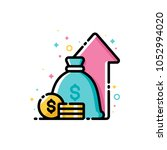 financial strategy  budget... | Shutterstock .eps vector #1052994020