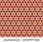vector seamless pattern in... | Shutterstock .eps vector #1052997560