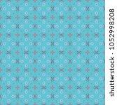 vector seamless geometric... | Shutterstock .eps vector #1052998208
