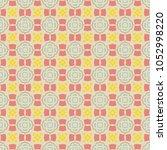 vector seamless geometric... | Shutterstock .eps vector #1052998220