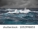 sea wave in atlantic ocean... | Shutterstock . vector #1052998853