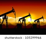 oil field   Shutterstock . vector #105299966