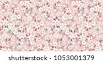 spring flowery pattern.... | Shutterstock .eps vector #1053001379