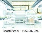 blurred biology laboratory.    Shutterstock . vector #1053007226