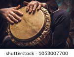 ethnic percussion musical... | Shutterstock . vector #1053007700