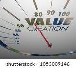 value creation speedometer... | Shutterstock . vector #1053009146