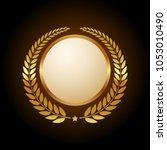 blank golden emblem   Shutterstock .eps vector #1053010490