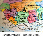 ivory coast africa isolated... | Shutterstock . vector #1053017288