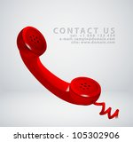 vintage phone receiver as ... | Shutterstock .eps vector #105302906